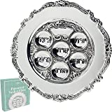 """Lowest Priced Traditional Passover Seder Plate 12"""" (Silver Plated)"""