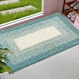 AICOK Indoor Doormat Front Door Mat Non Slip Rubber Backing Super Absorbent Mud and Snow Magic Inside Dirts Trapper Mats Fron