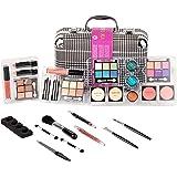 Duer Lika Portable Professional Mixed Beauty Makeup Kits Cosmetic Case Set Matte Shimmer Eyeshadow Palette Blushes Lip Makeup