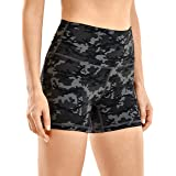 CRZ YOGA Biker Shorts for Women High Waisted Shorts Yoga Running Workout Short Leggings Naked Feeling-4 Inches