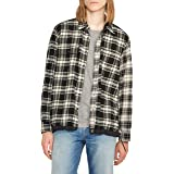 Hudson Jeans Mens MH7109WSA Plaid Flannel Shirt Long Sleeve Shirt - Multi