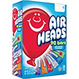 Airheads Bars, Chewy Fruit Taffy Candy, Variety Pack, Back to School for Kids, Non Melting, Party 90 Count (Packaging May Var