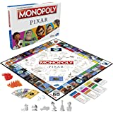 Monopoly: Pixar Edition Board Game for Kids 8 and Up, Buy Locations from Disney and Pixar's Toy Story, The Incredibles, Up, C