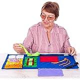Fidget Blanket | Calming & Comforting Activities for Adults with Dementia | Sensory Blanket | Dementia Blanket for Seniors |
