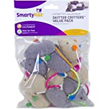 SmartyKat Skitter Critters Catnip Cat Toys Value Pack, 10 Count