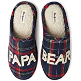 Dearfoams Men's Papa Bear Clog Slipper – Charming, Cozy and Comfortable in Classic Patterns and Colors - Cushioned Insole wit