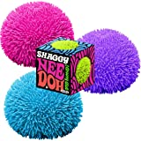Nee-Doh Schylling Shaggy Groovy Glob! Squishy, Squeezy, Stretchy Stress Balls Neon Colors Gift Set Party Bundle - 3 Pack (Ass