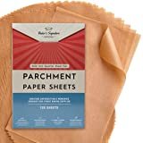 Quarter Sheet Pans 8x12 Inch Pack of 120 Parchment Paper Baking Sheets by Baker's Signature | Precut Silicone Coated & Unblea