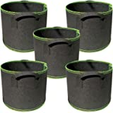 T Tersely【5 Pack】 5 Gallon Plant Grow Bag Fabric Pots, Indoor Garden Planter Bags for Vegetable Potato Growing, Premium Breat