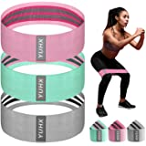 [Latest 2021] Resistance Bands for Legs and Butt, Fabric Workout Booty Glute Thigh, Women/Men Stretch Exercise Loops, Thick W