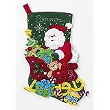 Bucilla 86866 Santa's Sleigh Stocking Kit, Multicolor