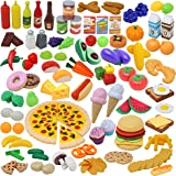 JOYIN Play Food Set 135 Pieces Play Kitchen Set for Market Educational Pretend Play, Food Playset, Kids Toddlers Toys, Kitche