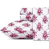 Betsey Johnson Sheet Set, Polyester Microfiber, Skull Rose, Queen