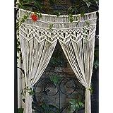 RISEON Macrame Wall Hanging Tapestry- Macrame Door HangingRoom dividermacrame CurtainsWindow Curtain door curtains wedding Ba