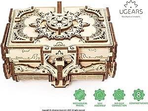Ugears Antique Box アンティークボックス 木製 ブロック DIY パズル 組立 想像力 創造力 おもちゃ