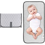 Baby Portable Changing Pad, Diaper Bag, Travel Mat Station, Grey Compact