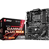 MSI Performance Gaming AMD X470 Ryzen 2ND and 3rd Gen AM4 DDR4 DVI HDMI Onboard Graphics CFX ATX Motherboard (X470 Gaming Plu