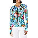 Luli Fama Women's Fitted Mesh Panel Jacket