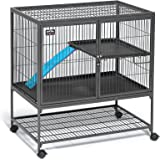 Midwest Deluxe Ferret Nation Double Unit Ferret Cage (Model 182) Includes 2 Leak-Proof Pans, 2 Shelves, 3 Ramps w/Ramp Covers