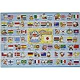 75ピース 子供向けパズル どこでもドラえもん 世界の国旗 【ピクチュアパズル】