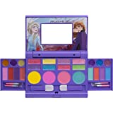 Townley Girl Disney Frozen Elsa and Anna Beauty Makeover Compact with Mirror for Girls, Including 6 Lip Glosses, 4 Blushes, 8