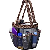 Korlon Mesh Shower Caddy, Quick Dry Shower Caddy Portable, Toiletry and Bath Organizer Oxford Hanging Shower Tote Bag with 8