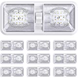 10 Pack RV LED Ceiling Double Dome Light Fixture with ON/Off Switch Interior Lighting for Car/RV/Trailer/Camper/Boat DC 12V N