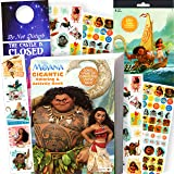 Disney Coloring Books for Kids with Stickers - (Moana Coloring Book and Moana Stickers)