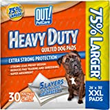 OUT 72473-4P Heavy Duty XXL Dog Pads | Absorbent Pet Training and Puppy Pads | 30 Pads | 26 x 30 Inches