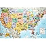 ポスター アメリカ 地図 GN-0757