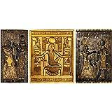 Design Toscano WU968075 Egyptian Temple Stele Tutankhamen, Isis and Horus Plaque