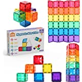 STEAM STUDIO Star Magnetic Tiles 36pcs Expansion Pack, Stronger Magnets, Star Facets, Reinforced by Rivets, Clear Colours Bui