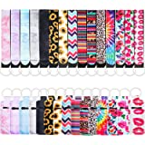 30 Pieces Chapstick Holder Lanyard Keychain Set, Chapstick Holder Keychains Lipstick Holder Keychain Protective Cases with Wr