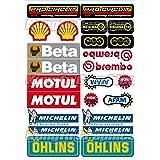 KUNGFU GRAPHICS カンフー グラフィックス ステッカー レーシングスポンサーロゴ マイクロデカールシート(ホワイト レッド) (MSS(41))