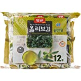 Dongwon Roasted Olive Seaweed, 5g (Pack of 12)