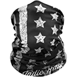 American Flag Outdoor Face Mask By IndieRidge - Microfiber Polyester Multifunctional Seamless Headwear for Motorcycle Hiking