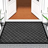 Color&Geometry Outdoor Door Mat 17X29 Rubber Mats, Low-Profile Doormat, Indoor Outdoor, Waterproof, Heavy Duty Mat for Floor,