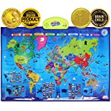 BEST LEARNING i-Poster My World Interactive Map - Educational Talking Toy for Kids of Ages 5 to 12 Years