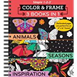 Color & Frame Coloring Book - 3 in 1 - Animals, Seasons & Inspiration