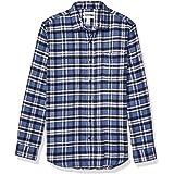 Amazon Essentials Men's Slim-Fit Long-Sleeve Plaid Flannel Shirt