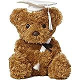 "Aurora World Plush Graduation Bear, White Cap, 8.5"""