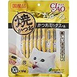 チャオ (CIAO) 猫用おやつ 焼かつお ちゅ~るタイプ かつおミックス味 12g×10本入×4個 (まとめ買い)