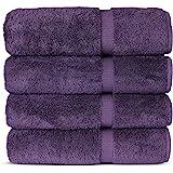 Luxury Hotel & Spa Bath Towel, Cotton, Plum, 27x54 - Bath Towel