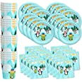 Penguin Birthday Party Supplies Set Plates Napkins Cups Tableware Kit for 16