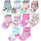 Cherokee Girls' 10 Pack Crew Socks