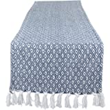 """DII CAMZ11272 Braided Cotton Table Runner, Perfect for Spring, Fall Holidays, Parties and Everyday Use 15x72"""" French Blue"""