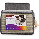 SmartyKat 10076 Scratch Scroll, Cat Scratcher, Interactive Cat Toy, Multi-Surface Carpet and Sisal, With Feathers