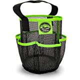 Camco Mesh Shower Caddy Organizer Tote with Pockets and Carry Handle, Dries Quick, Perfect for Dorms, Gym, Camping, The Beach