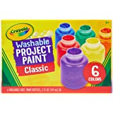 Crayola 54-1204 Washable Kid's Paint, (6 count)