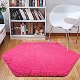 junovo Ultra Soft Rug for Nursery Children Room Baby Room Home Decor Dormitory Hexagon Carpet for Playhouse Princess Tent Kid